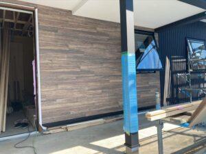 造作と外壁デコレーション部分